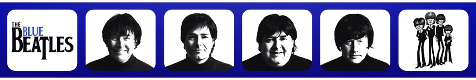 The Blue Beatles tribute band banner